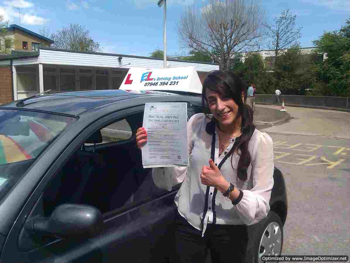 fatima from Beckenham, BR3 passed her driving test